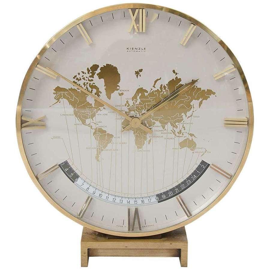 Kienzle World Time Zone Desk Clock by Heinrich Möller