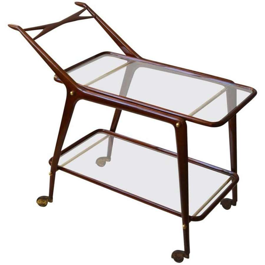 Cocktail Trolley by Cesare Lacca, Cassina, Italy, 1950's