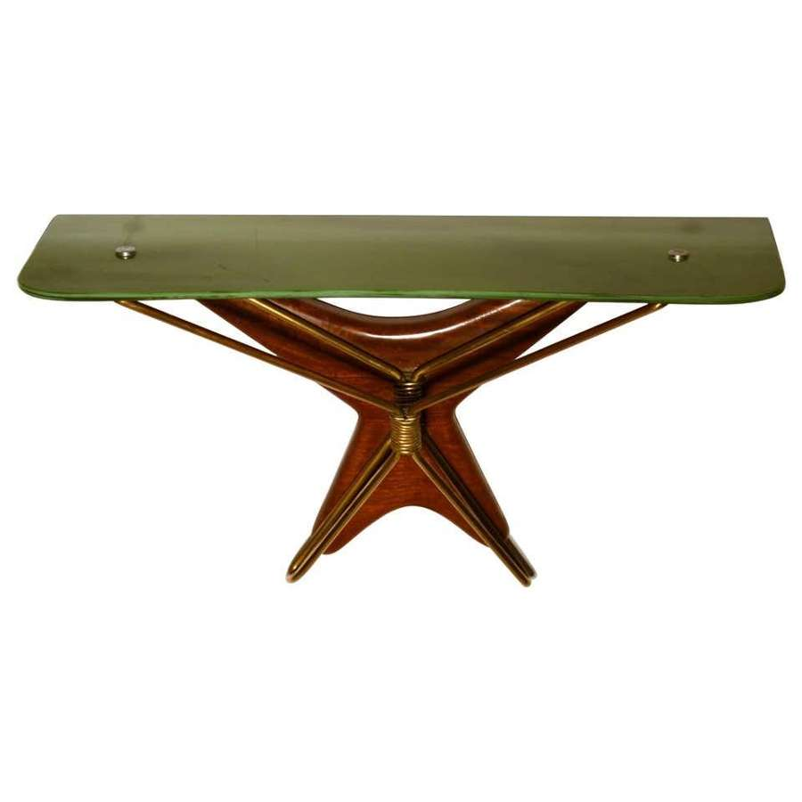 Italian 1950's Wall Mounted Console Table