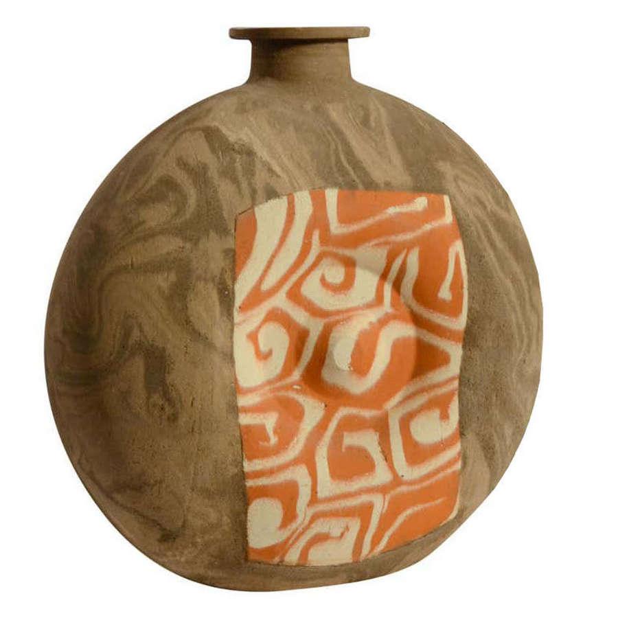 Decorative Studio Pottery Vase in Geometric Patterns