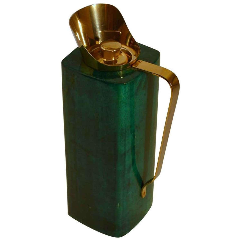 Thermos Flask Aldo Tura Green Parchment