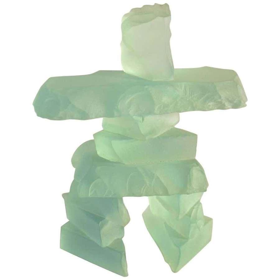 Sculpture Figurative in Etched Glass