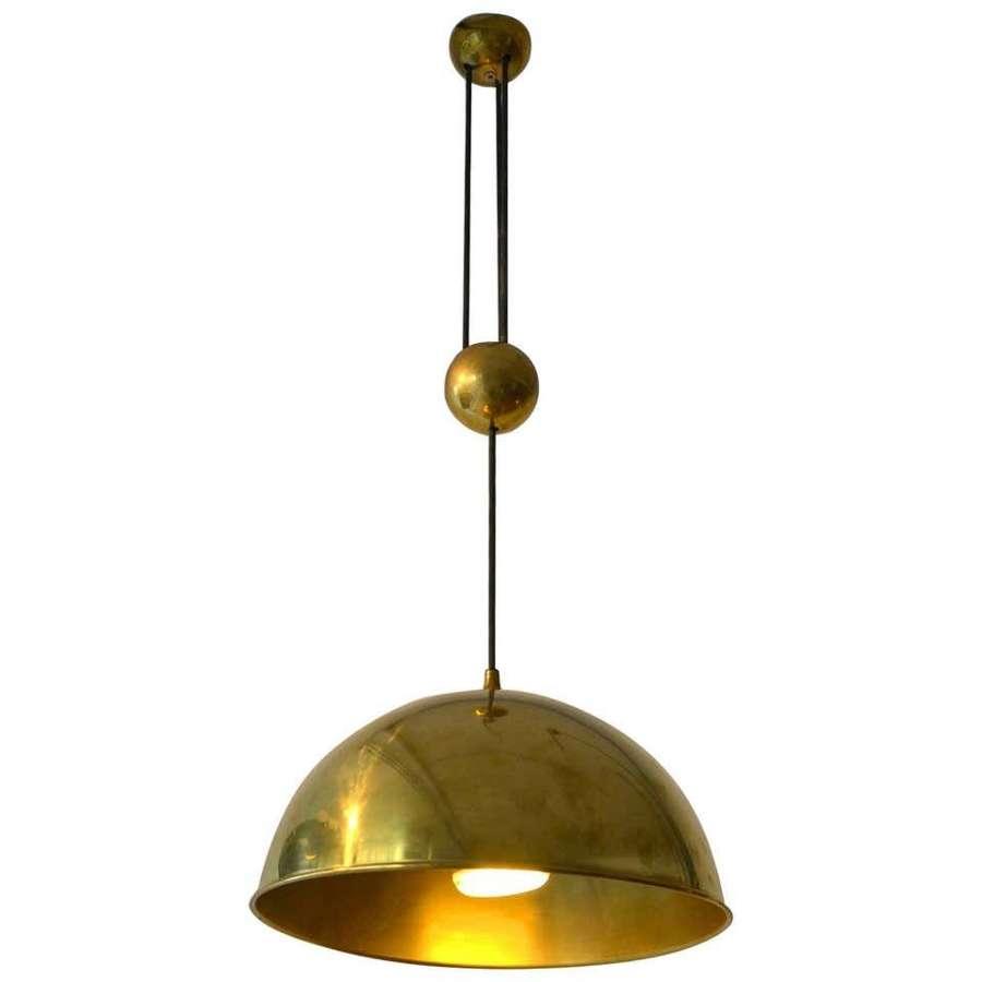 Counterbalance Brass Pendant 'Posa' by F. Schulz