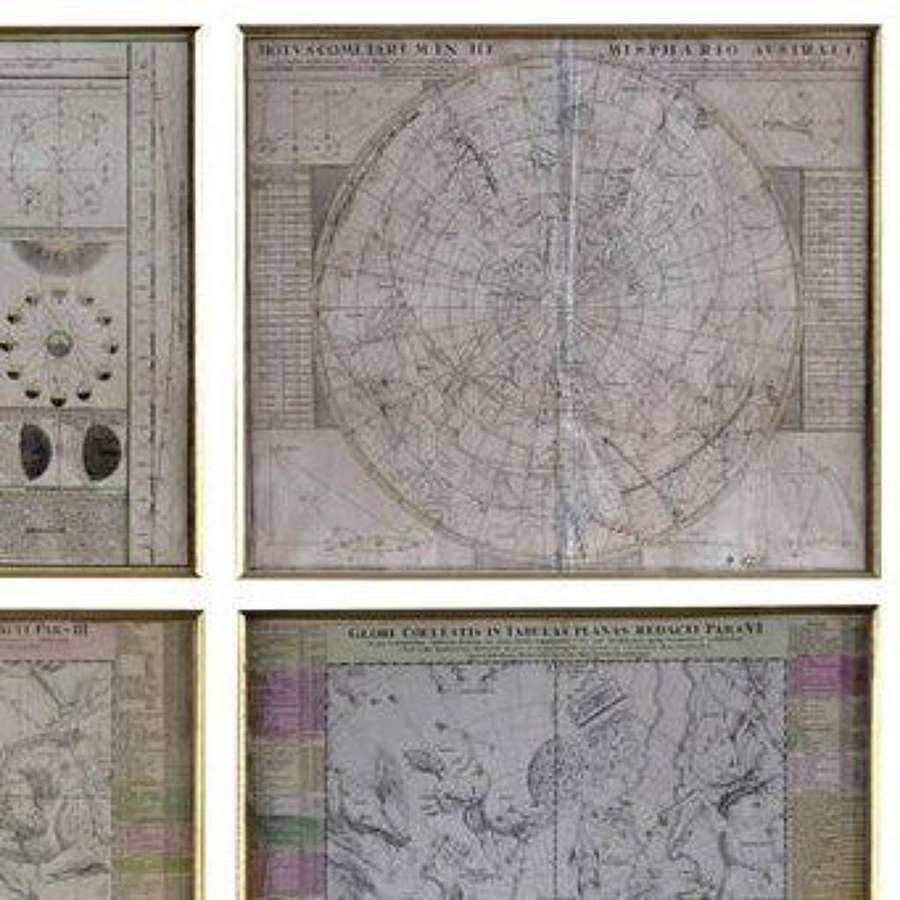 Celestial Engravings Charts by Astronomer Doppelmayr