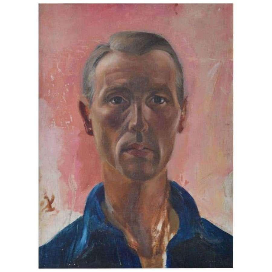 Male Portrait, Painting Dutch, 1960s