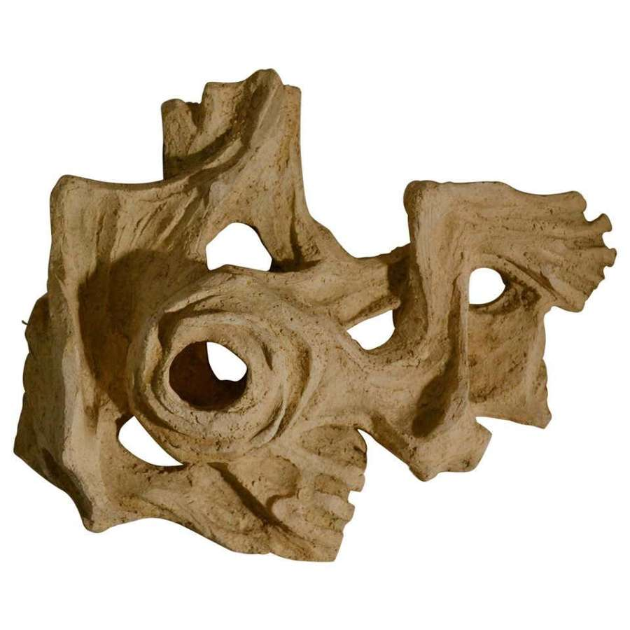 Abstract Ceramic Dutch Wall Relief Sculpture by Pijman
