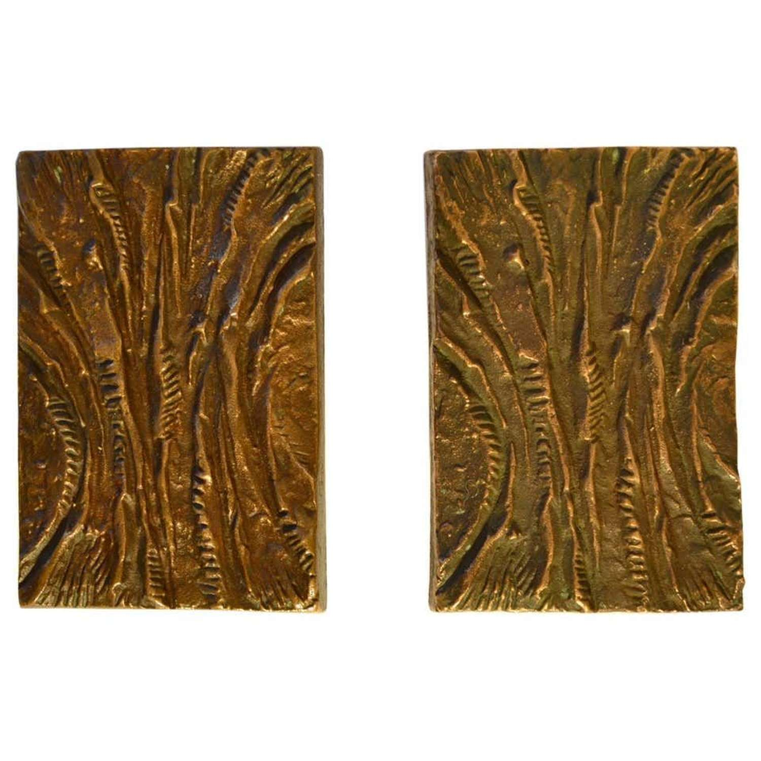 Bronze Push and Pull Door Handles with Curved pattern