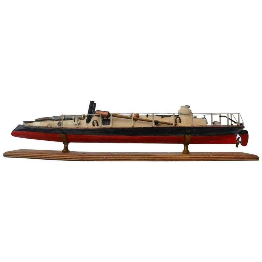 Model of 'Yarrow' Torpedo Boat, 1879