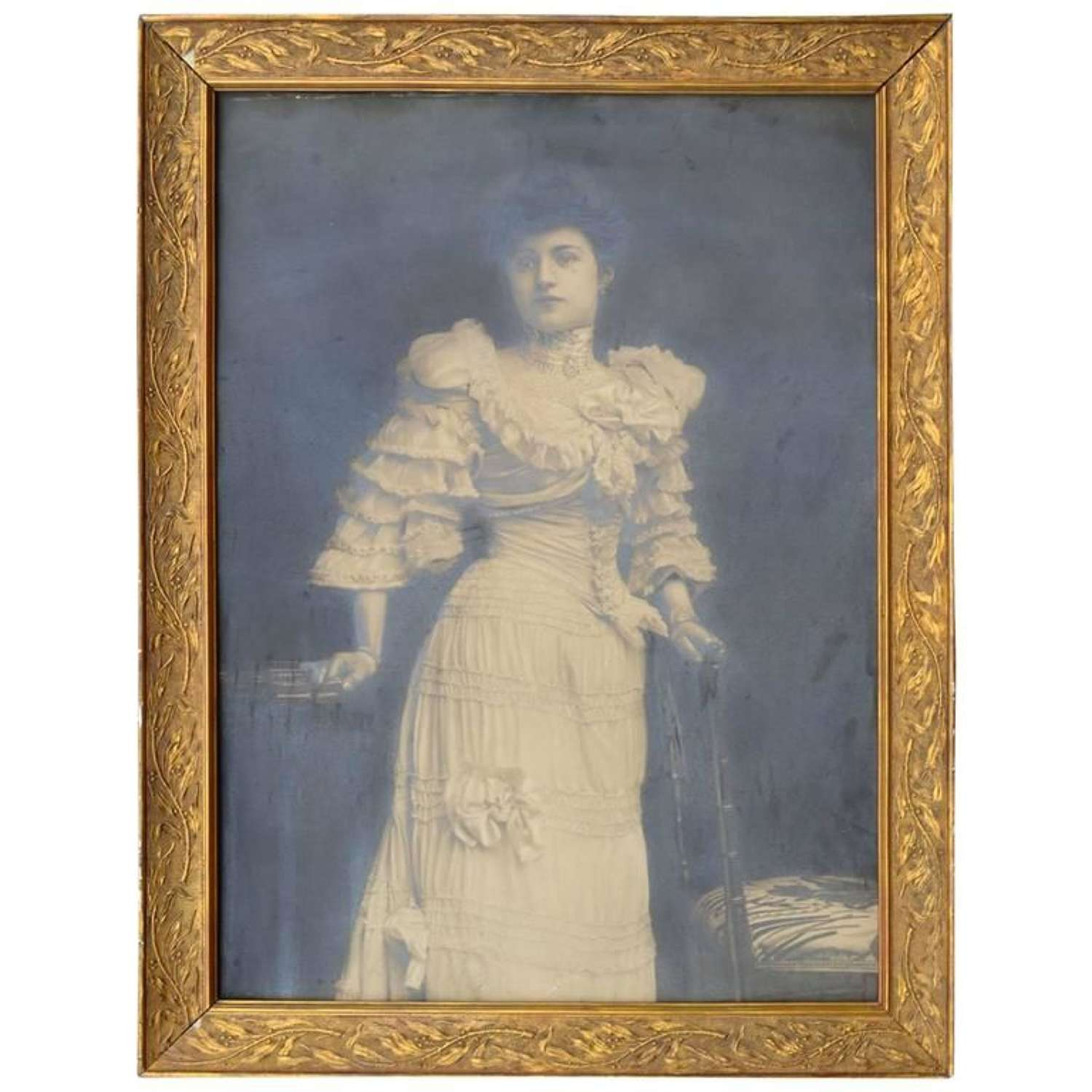 Large Photograph of an Early 20th century debutante