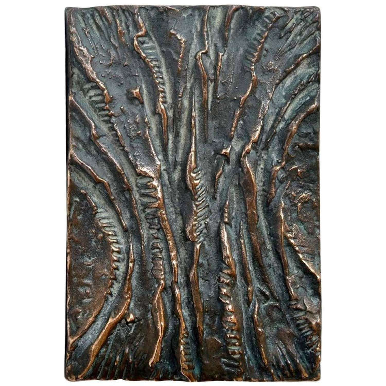 Rectangular Bronze Push and Pull Art Door Handle