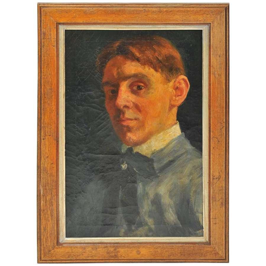 Early 19th Century Self Portrait of a Dutch Artist
