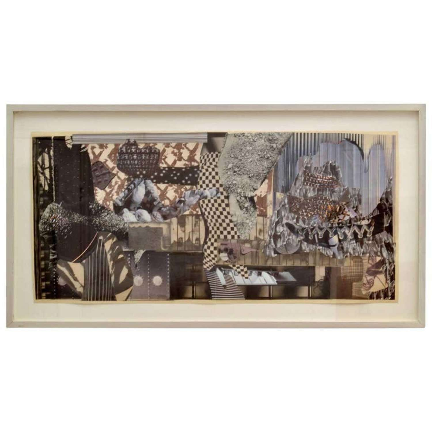 Abstract Collage Art in Black and White by B Allan, 1993