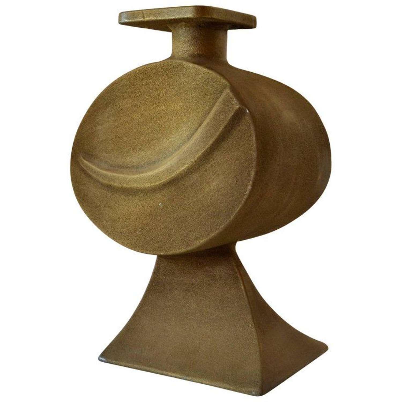 Large Sculptural Bronze Vase signed Nuro, 1970s