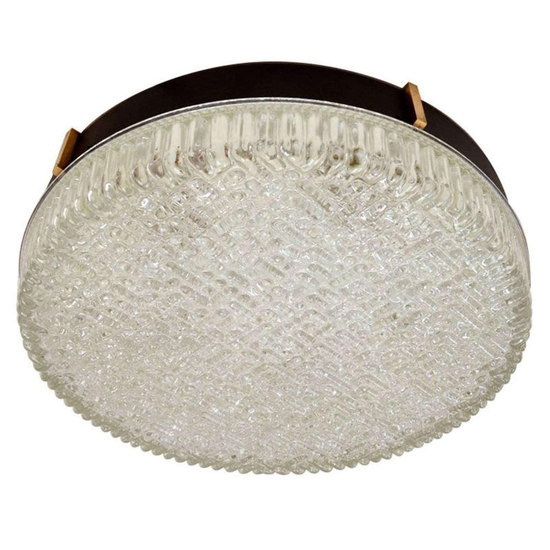 Large Flush Mount Glass Pendant lights by N Leuchten