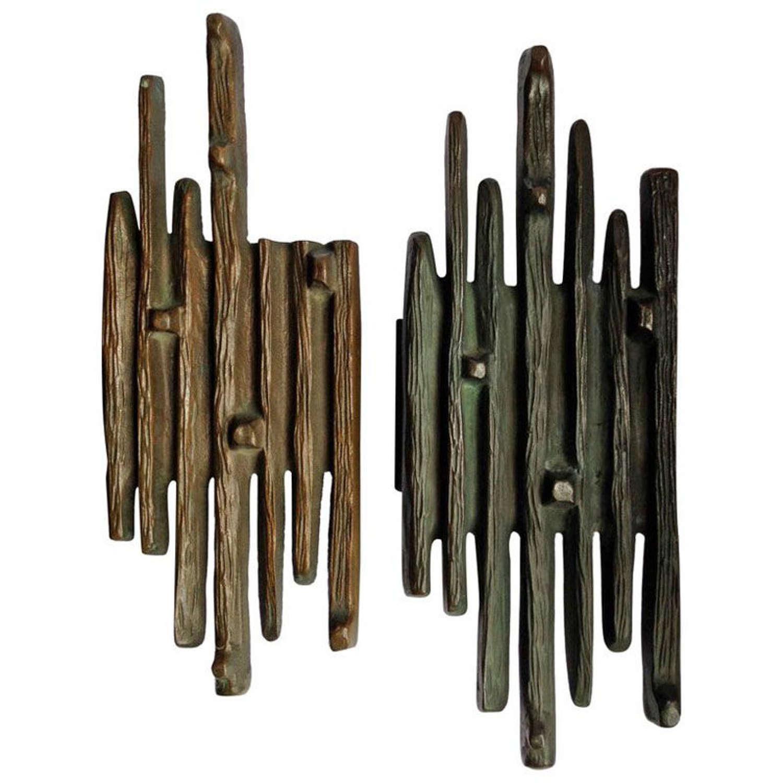 Bronze Push and Pull Door Handles with vertical design