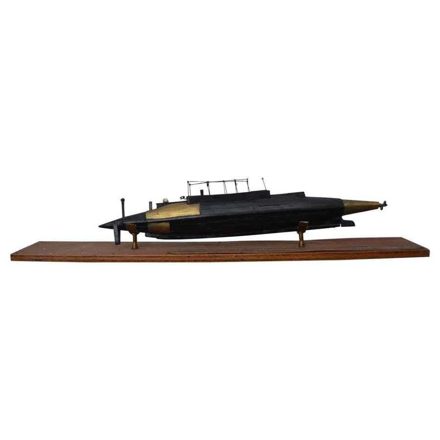 Model of Early USSR Submarine 'Nalim'