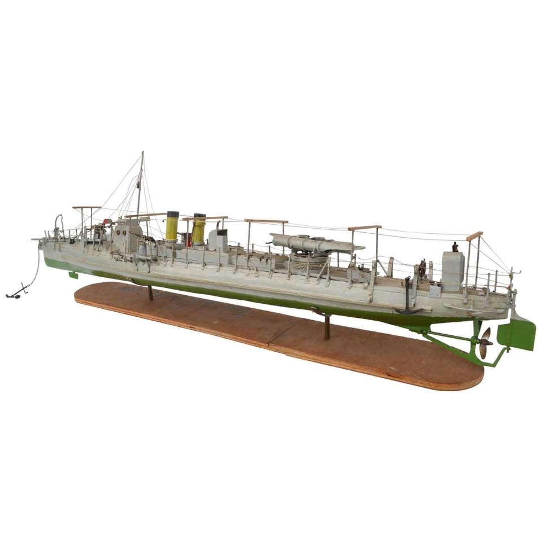 Model of the Torpedo Boat 'Drazki' Ussr, 1907