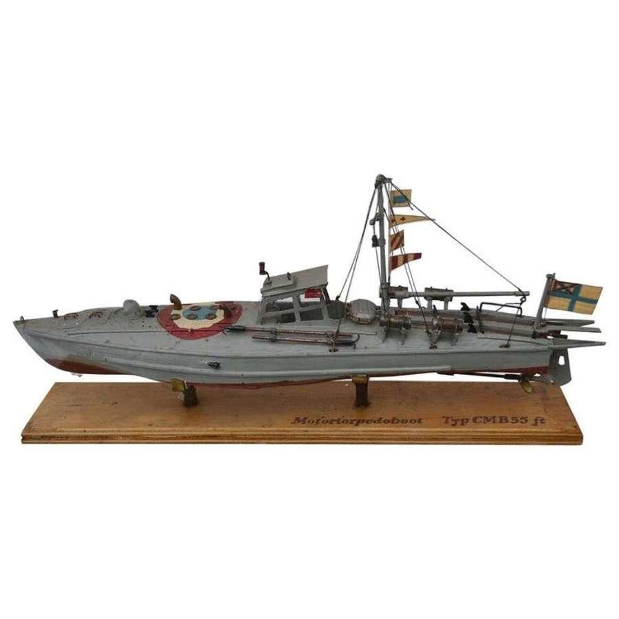 Torpedo Motor Boat Model, Early 20th Century