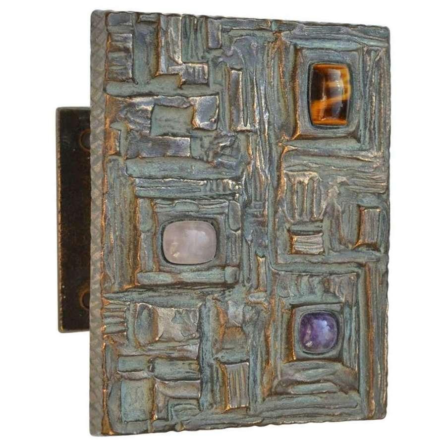 Bronze Door Handle with Semi Precious Stones