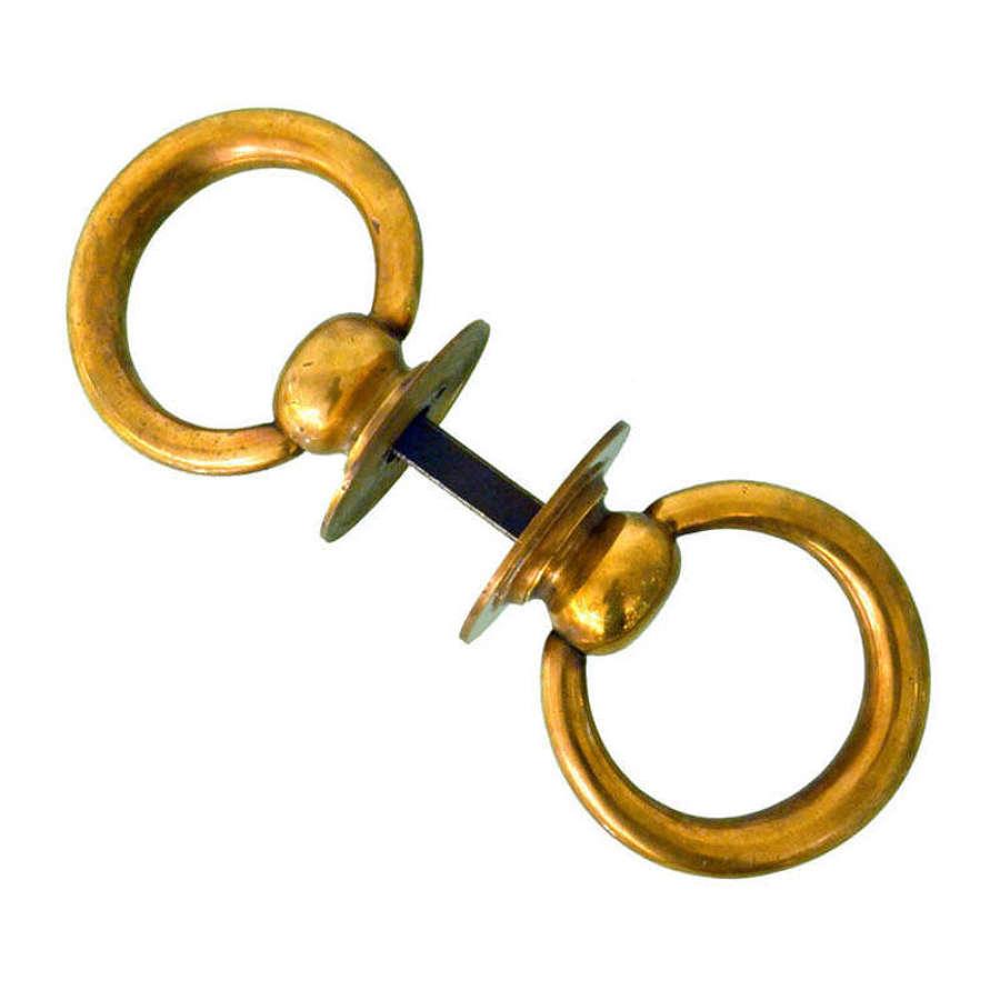Bronze Double Ring Door Knocker or Door Handle