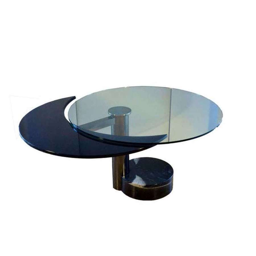 Round & Oval Dining Table in glass by Mario Mazzer
