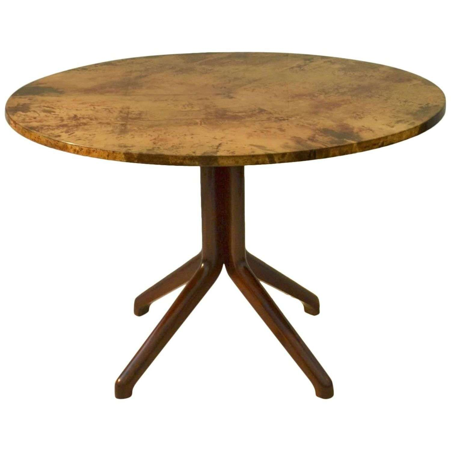 Dining Table by Aldo Tura, Parchment and Ebonized Wood