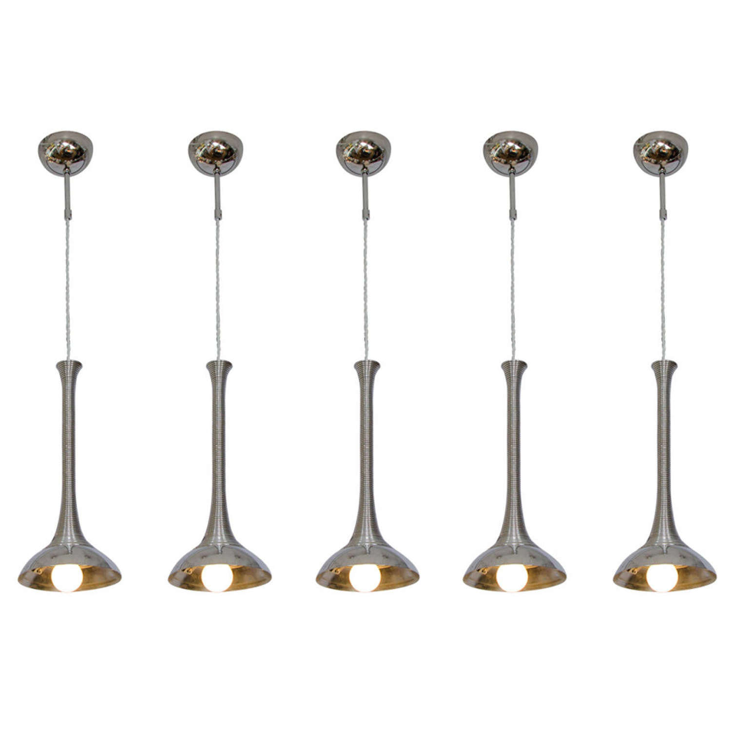 Chrome Lamps in the Style of Angelo Mangiarotti 1960's