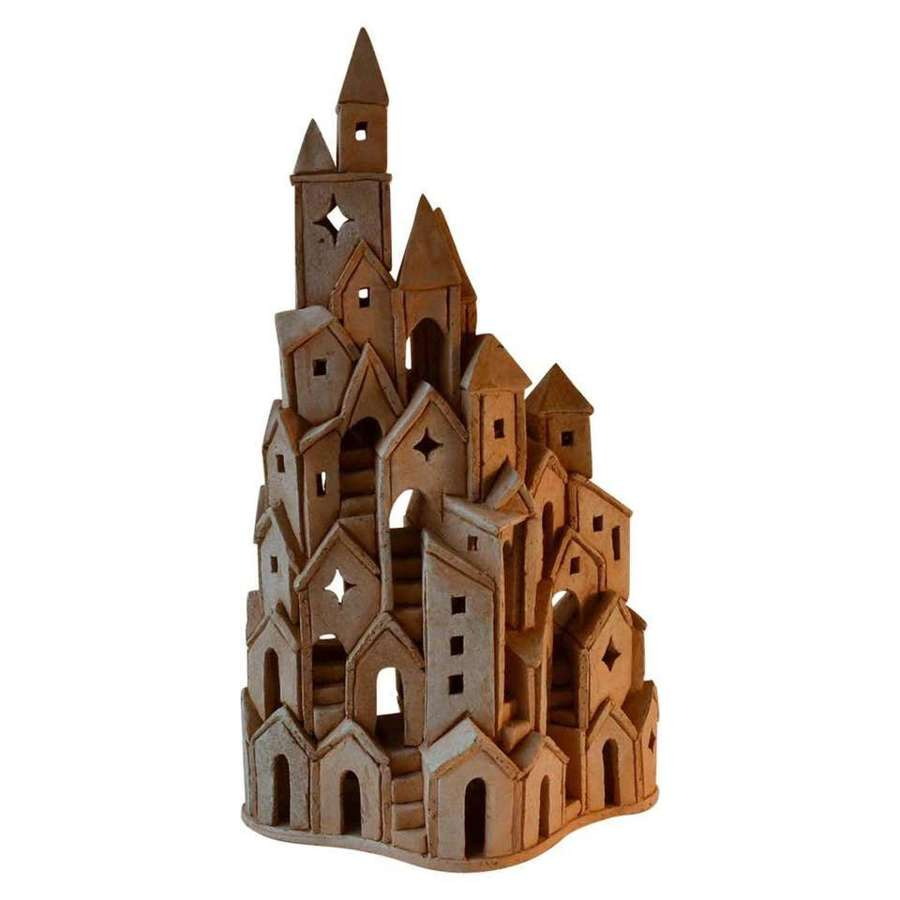 Architectural Ceramic Tower Sculpture, by Arie Bouter