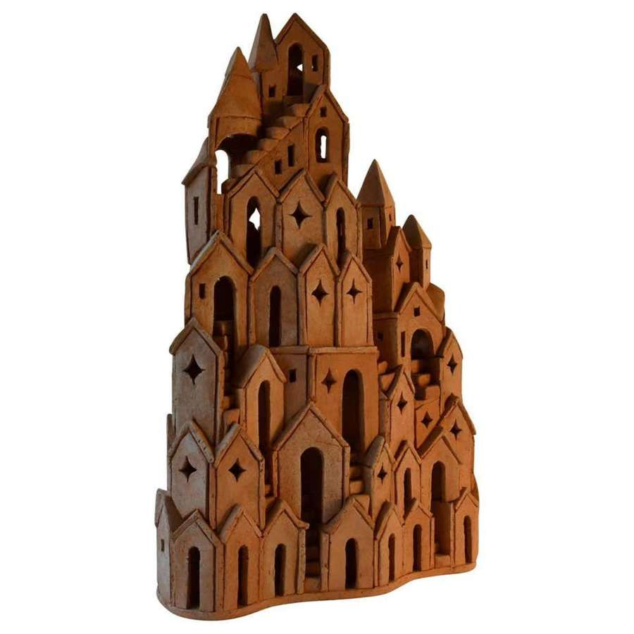 Architectural Ceramic Tower Sculpture 2 by A.Bouter