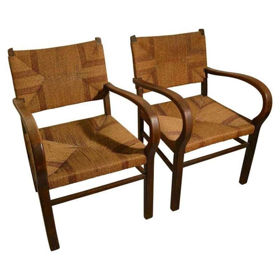 Pair of Bauhaus Armchairs by Erich Dieckmann