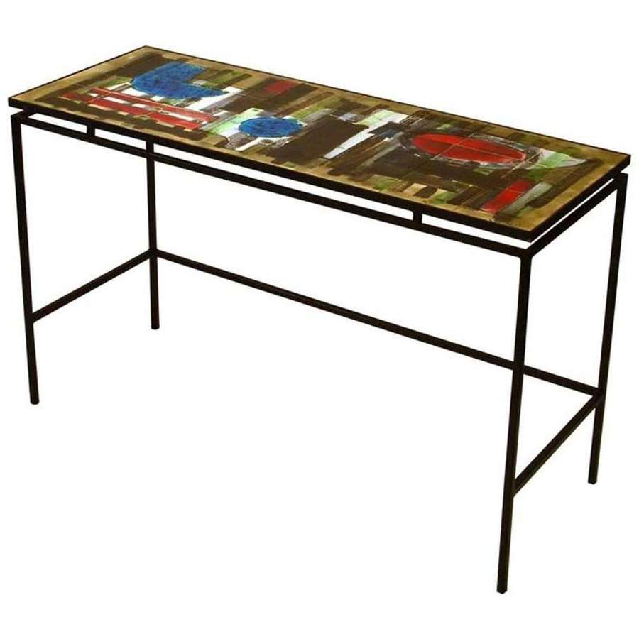 Console Desk Ceramic Tiles design Frame by Belarti