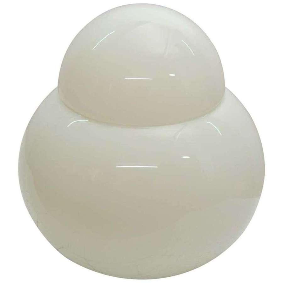 Table Lamp White Glass by Sergio Asti for Fontana Arte