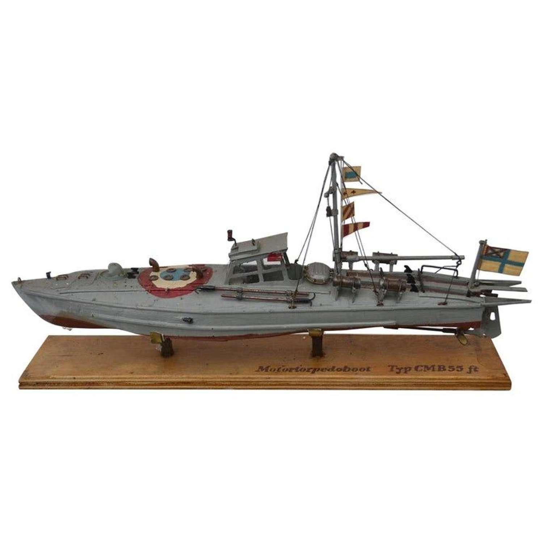 Russian Torpedo Motor Boat Model, Early 20th Century