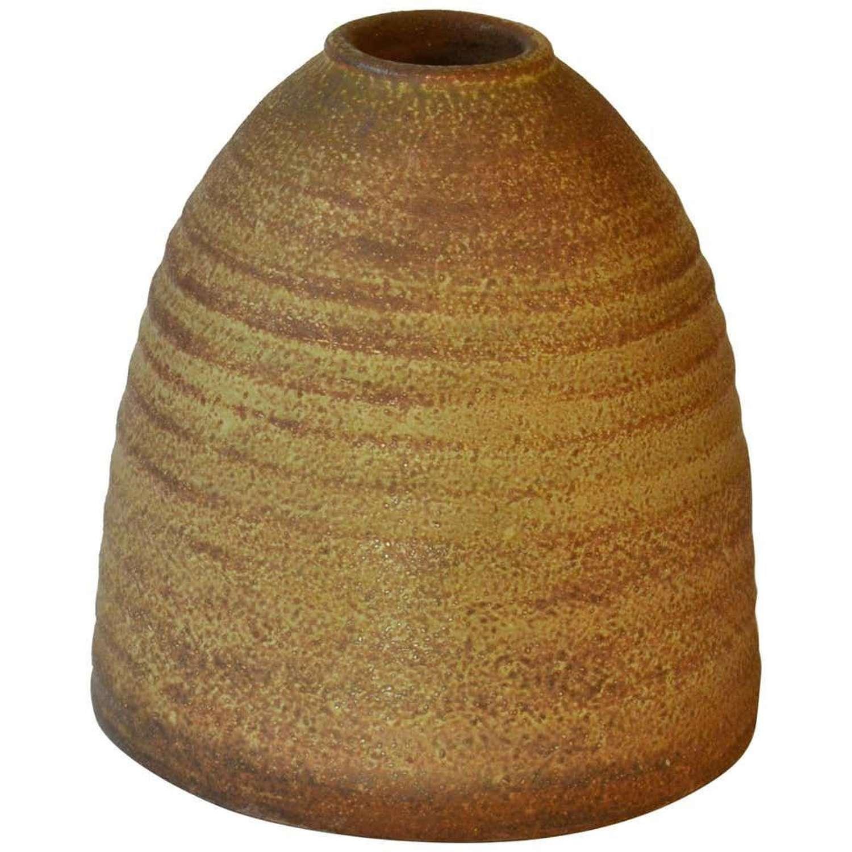 Sculptural Studio Pottery Vase in Beehive Shape