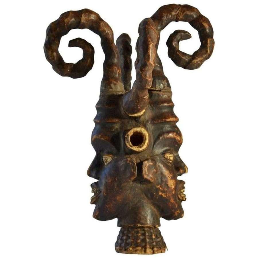 African Ritual Headdress Sculpture from Nigeria