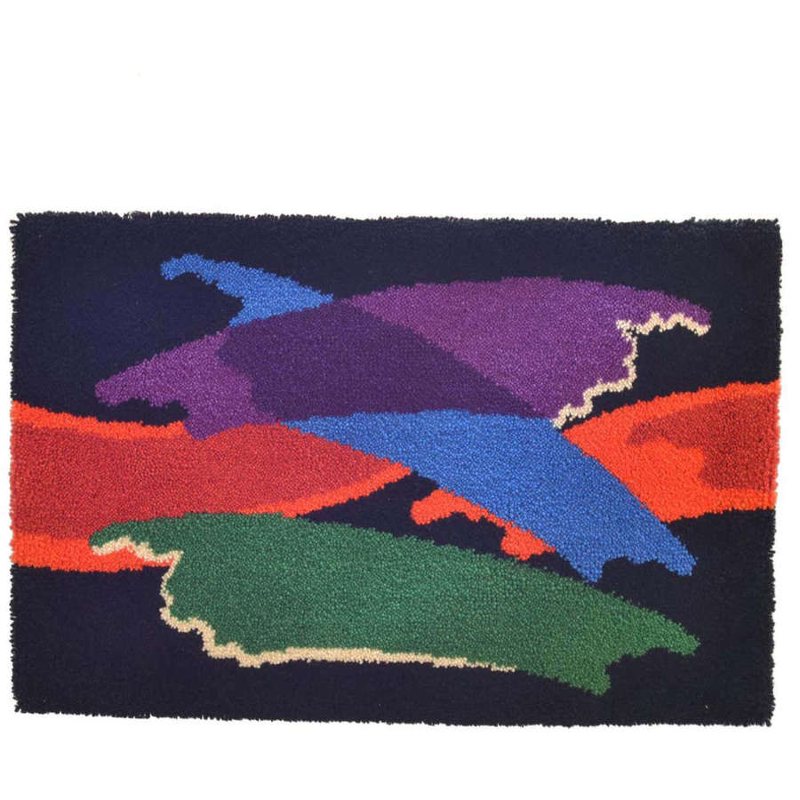 Abstract Vibrant Wall Tapestry by Junghans, 1960's