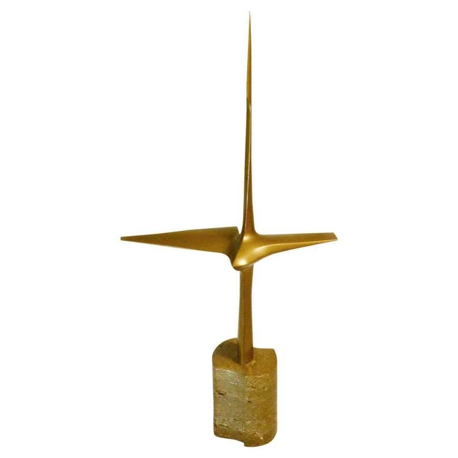 Abstract Aerodynamic Bronze Sculpture Dutch1977