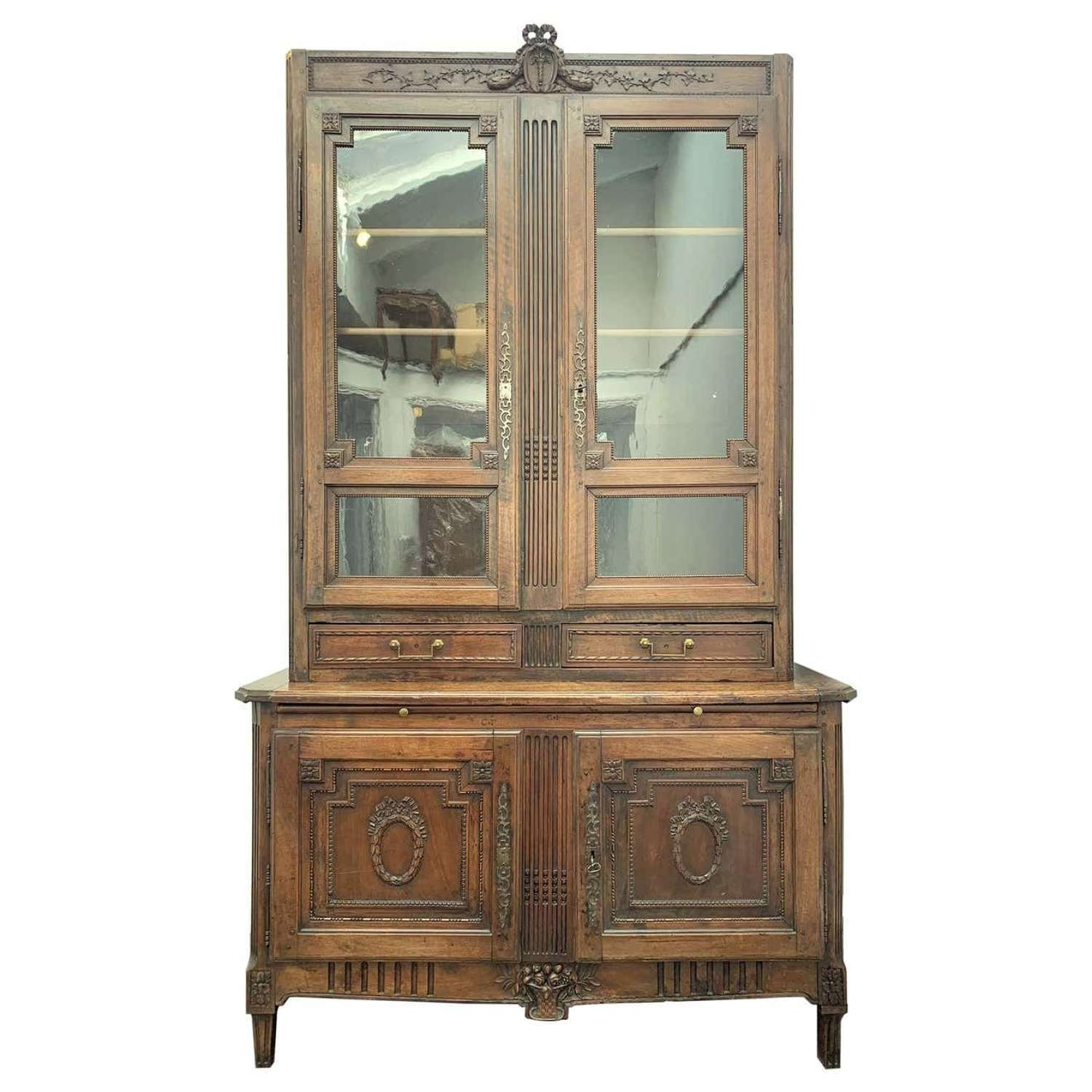 Antique Bibliotheque by F. C. Menant, Louis XVI Style 18th Century, Fr