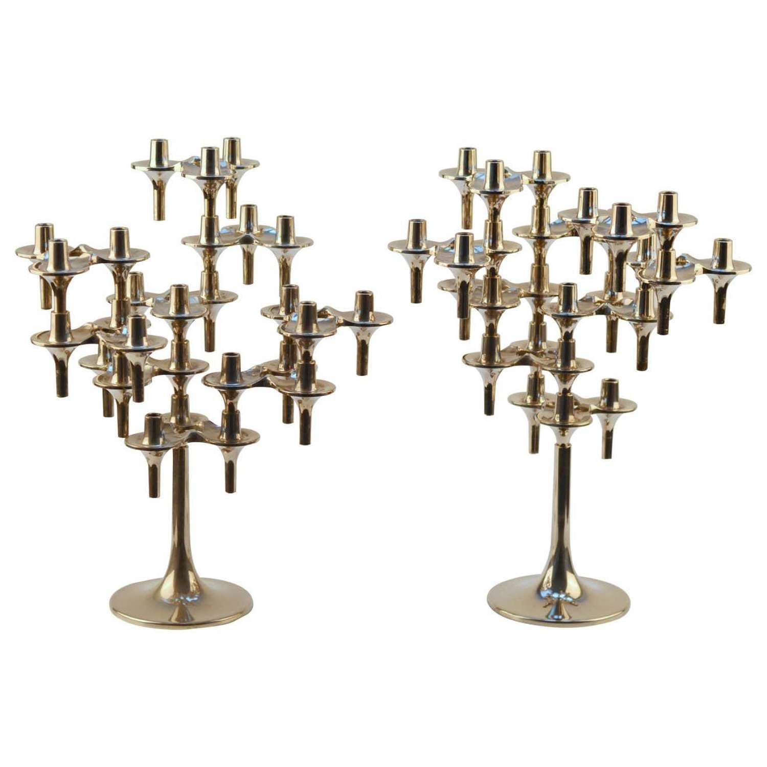 Pair of Modular Orion Candelabras by Nagel, 1960's