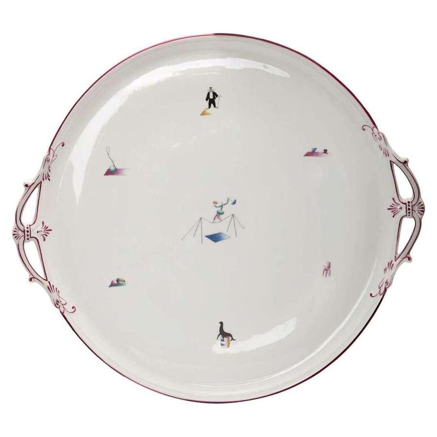 Gio Ponti porcelain 'Il Circo' Platter for Richard Ginori, Italy, 1934