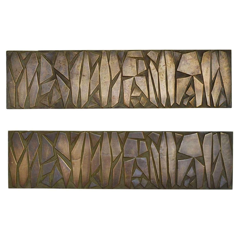 Pair of Very Large Push and Pull Door Handles or Door Reliefs
