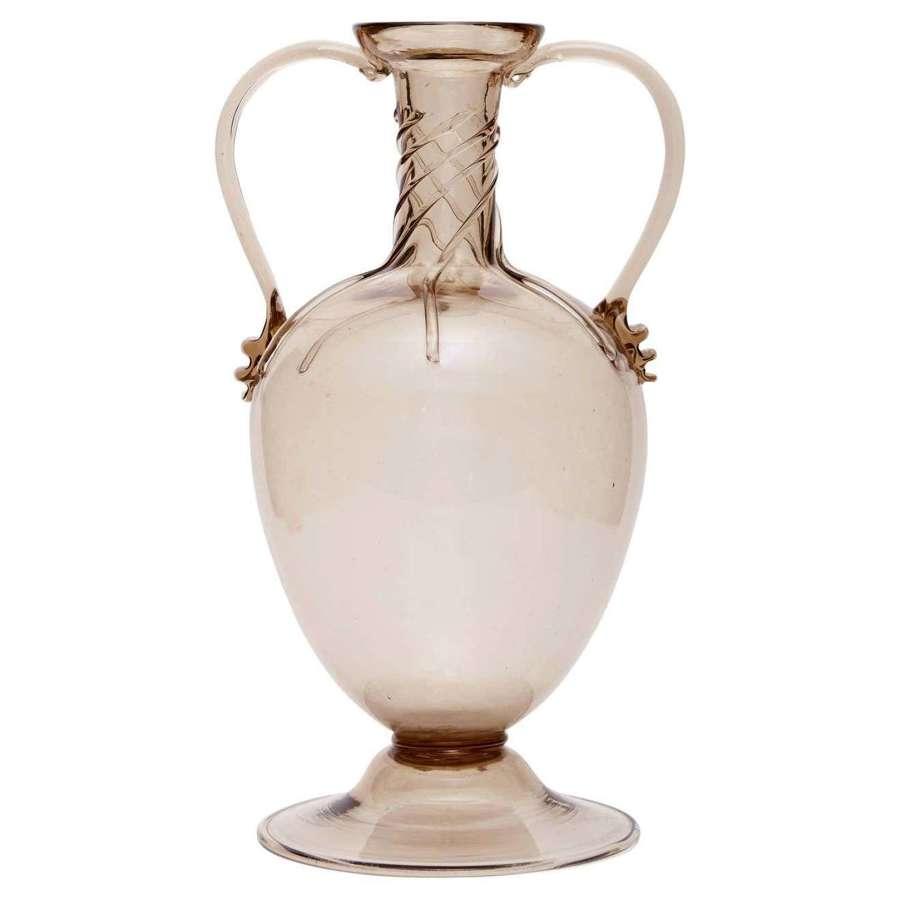 Soffiato Amphora Vase Attributed to Vittorio Zecchin for MVM Cappellin