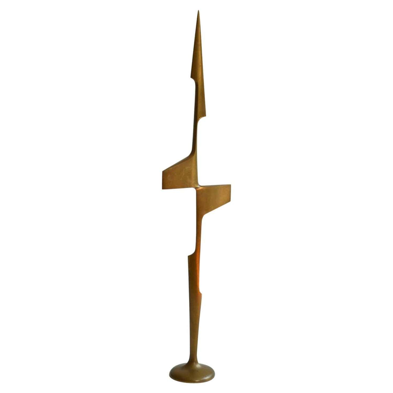 Abstract Aerodynamic Bronze Sculpture Dutch, 1970's