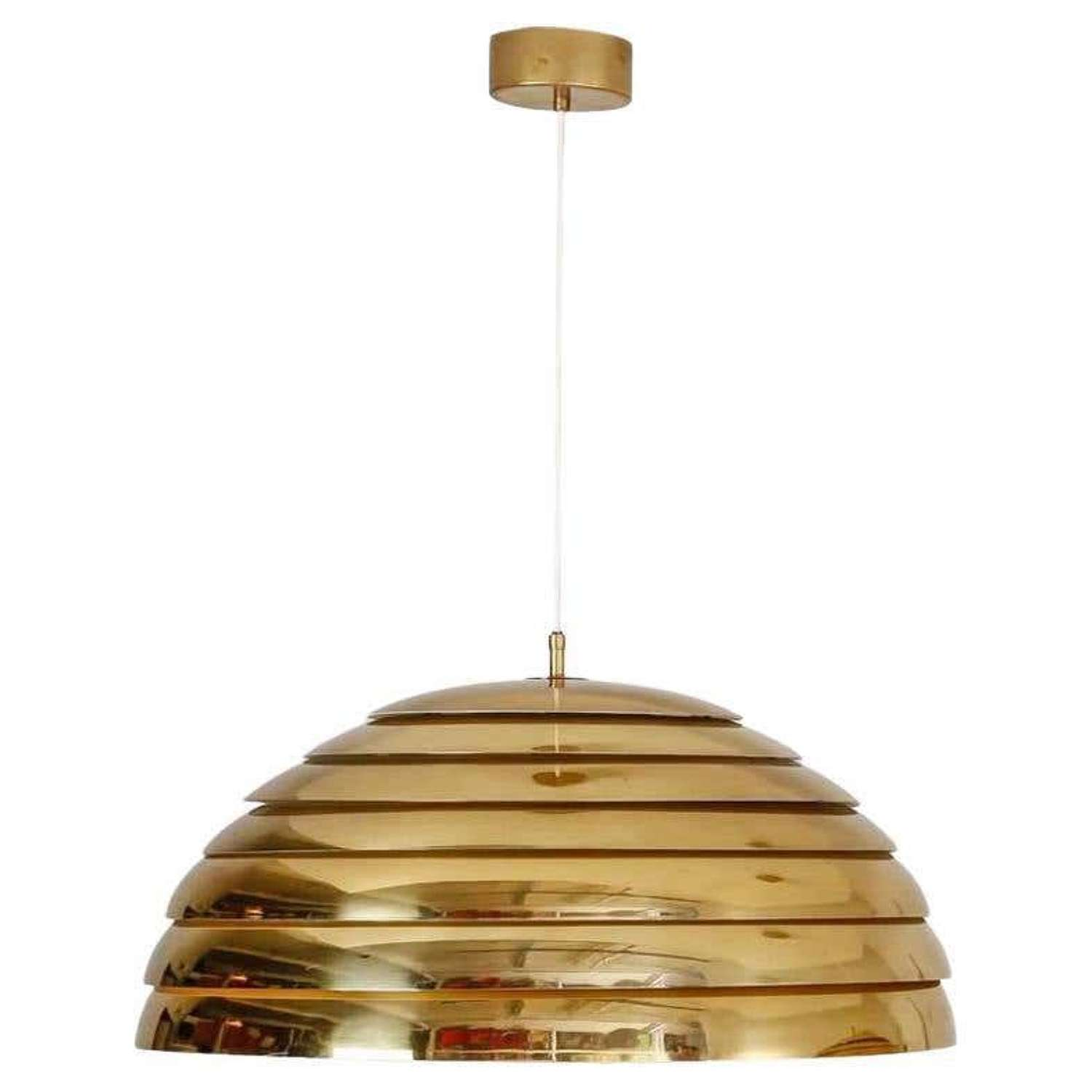 Large Dome Brass Pendant by Florian Schulz