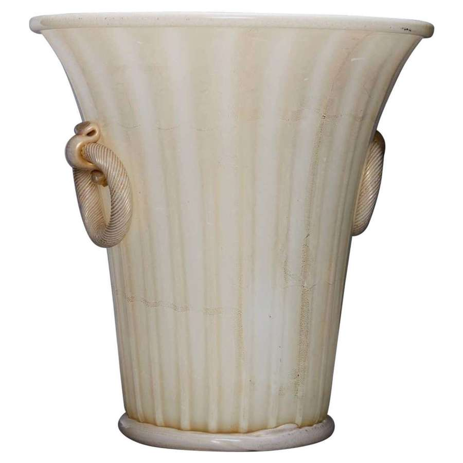 Twin-Handled Vase by Ercole Barovier for Barovier and Toso, 1956