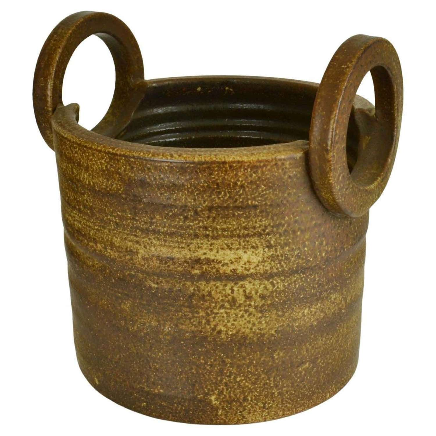 Two Handled Large Studio Ceramic Plant Pot by Mobach